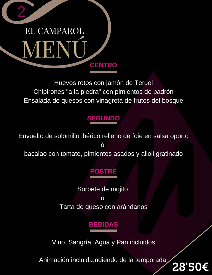 Menu 2 El Camparol
