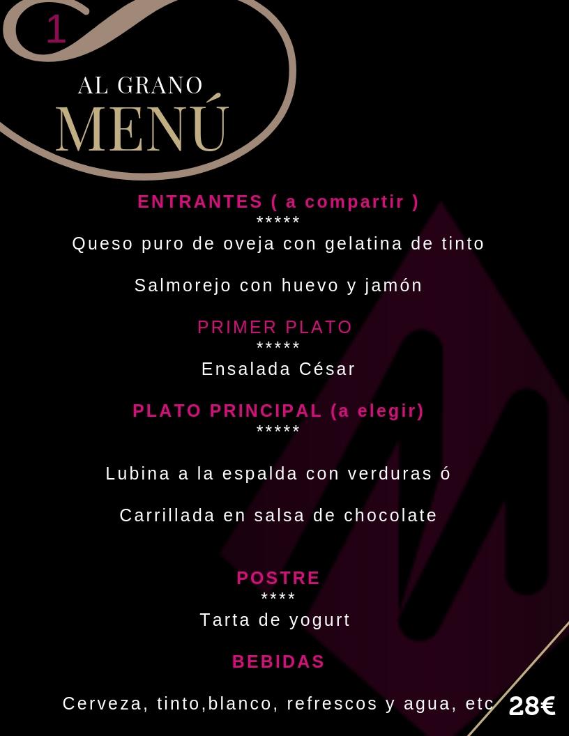 Restaurante en Cordoba - Al Grano - Menu para grupos desde 28€