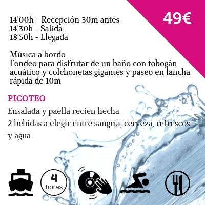 Fiesta en barco en Chiclana de la Frontera