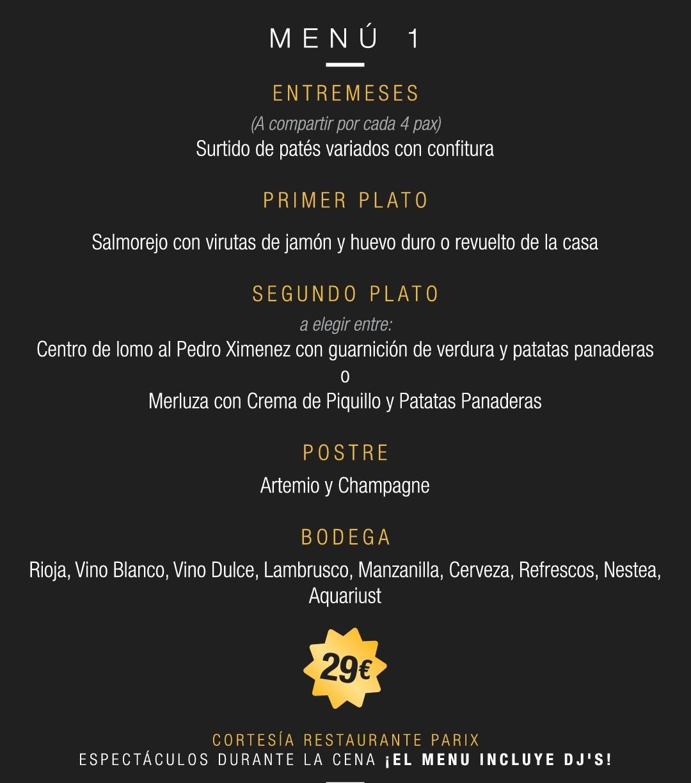 menu 1 sala pariz