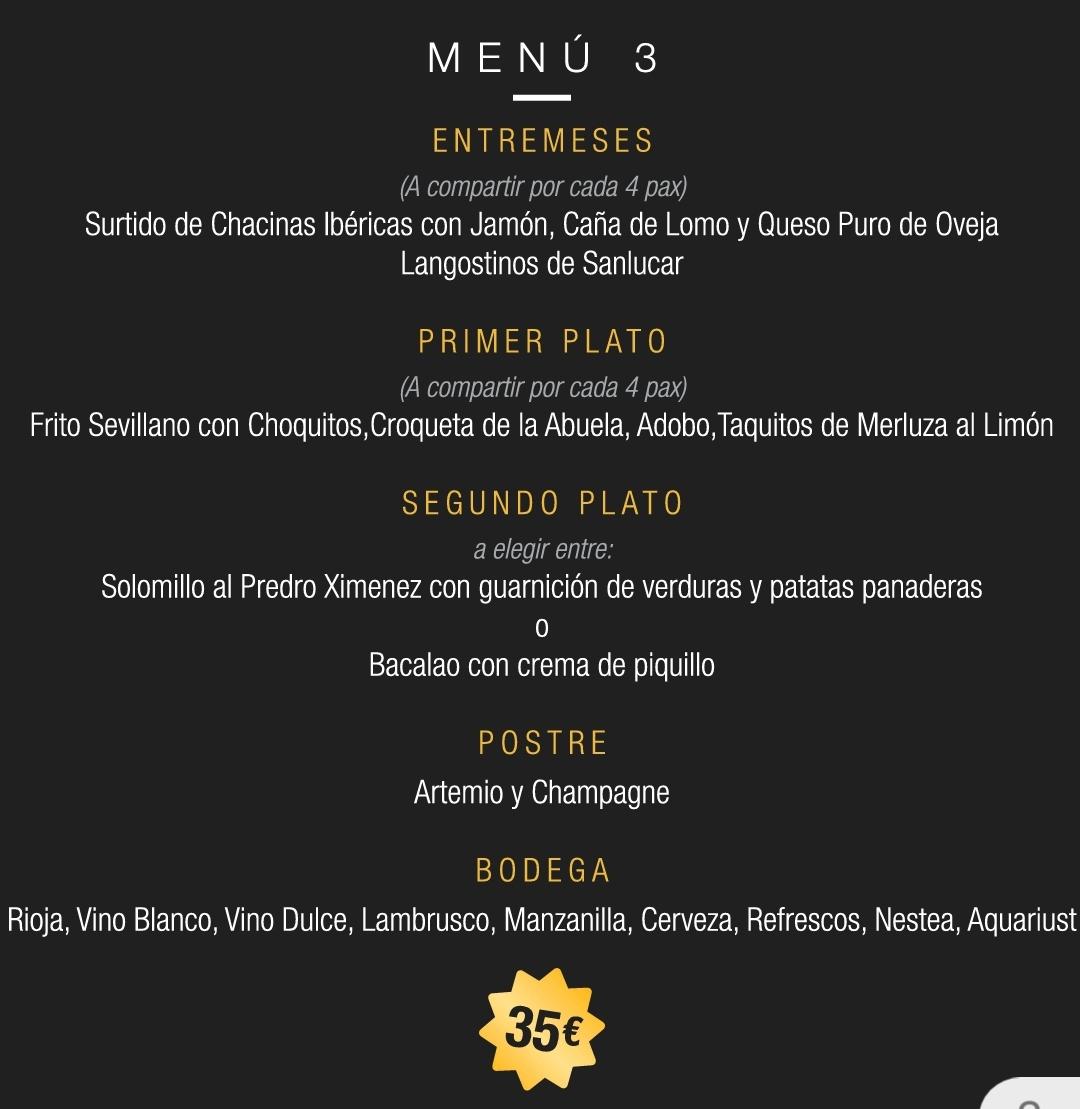 menu 3 sala parix