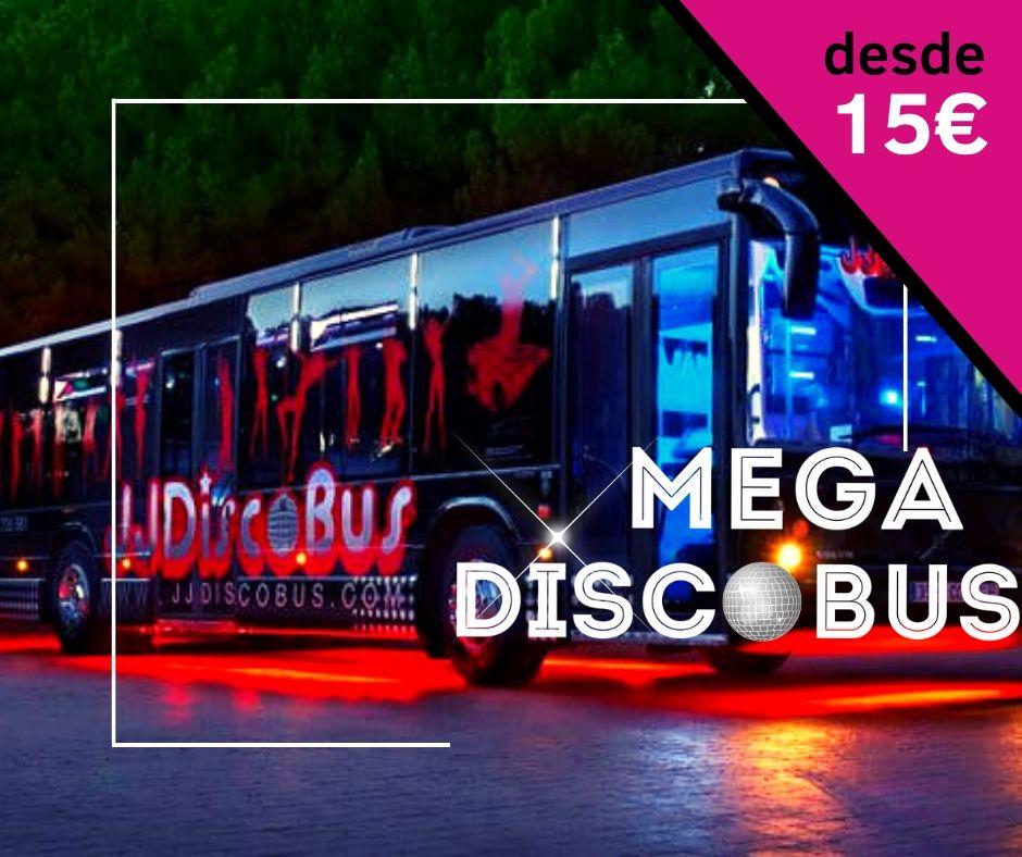 Fiesta en Mega Discobus + opcion cena