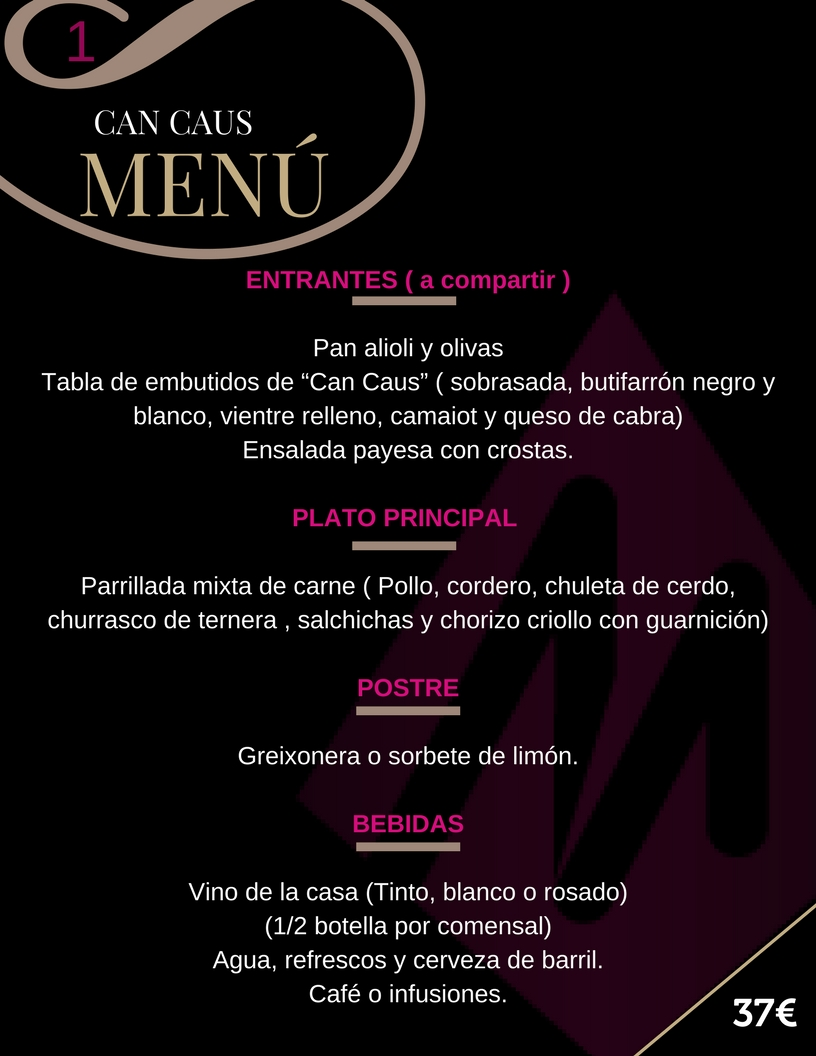 Martin Espectaculos Menu 1 Can Caus