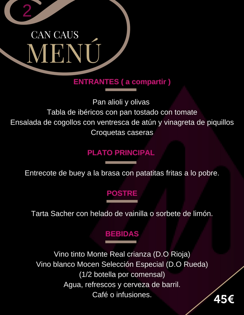 Martin Espectaculos Can Caus Menu 2