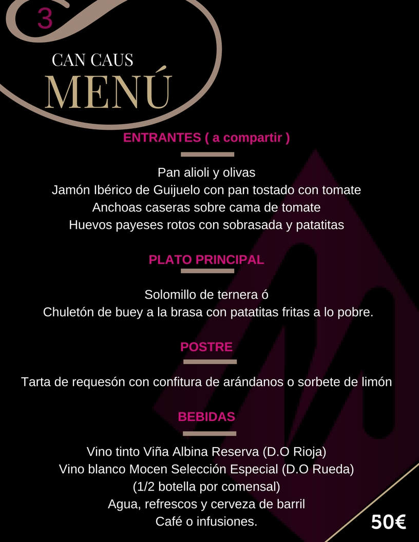 Martin Espectaculos Can Caus Menu 3
