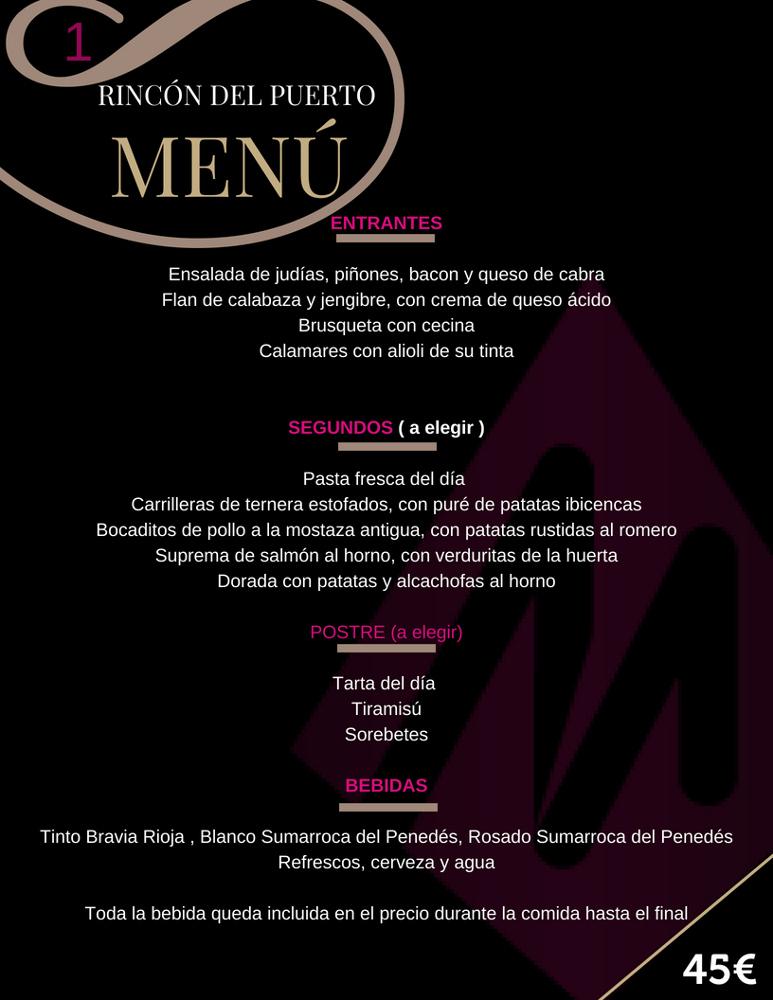 rincon del puerto menu